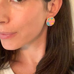 Lele Sadoughi Mosaic Post Stud Earrings NEW